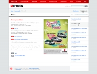 Citroen website action detail