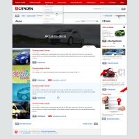 Citroen website action list