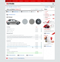 Citroen website car config 2
