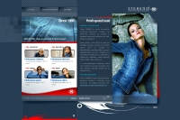Steberg Jeans website home
